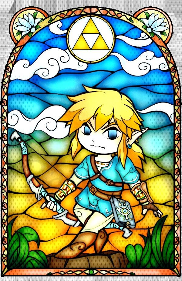 Legend of Zelda Stained Glass Stickers made by Ranefea -
