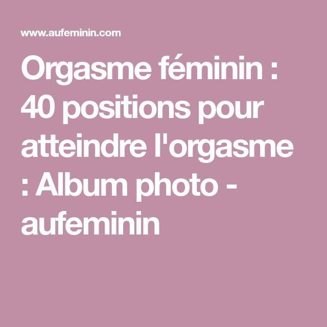 Massage féminin à l'orgasme