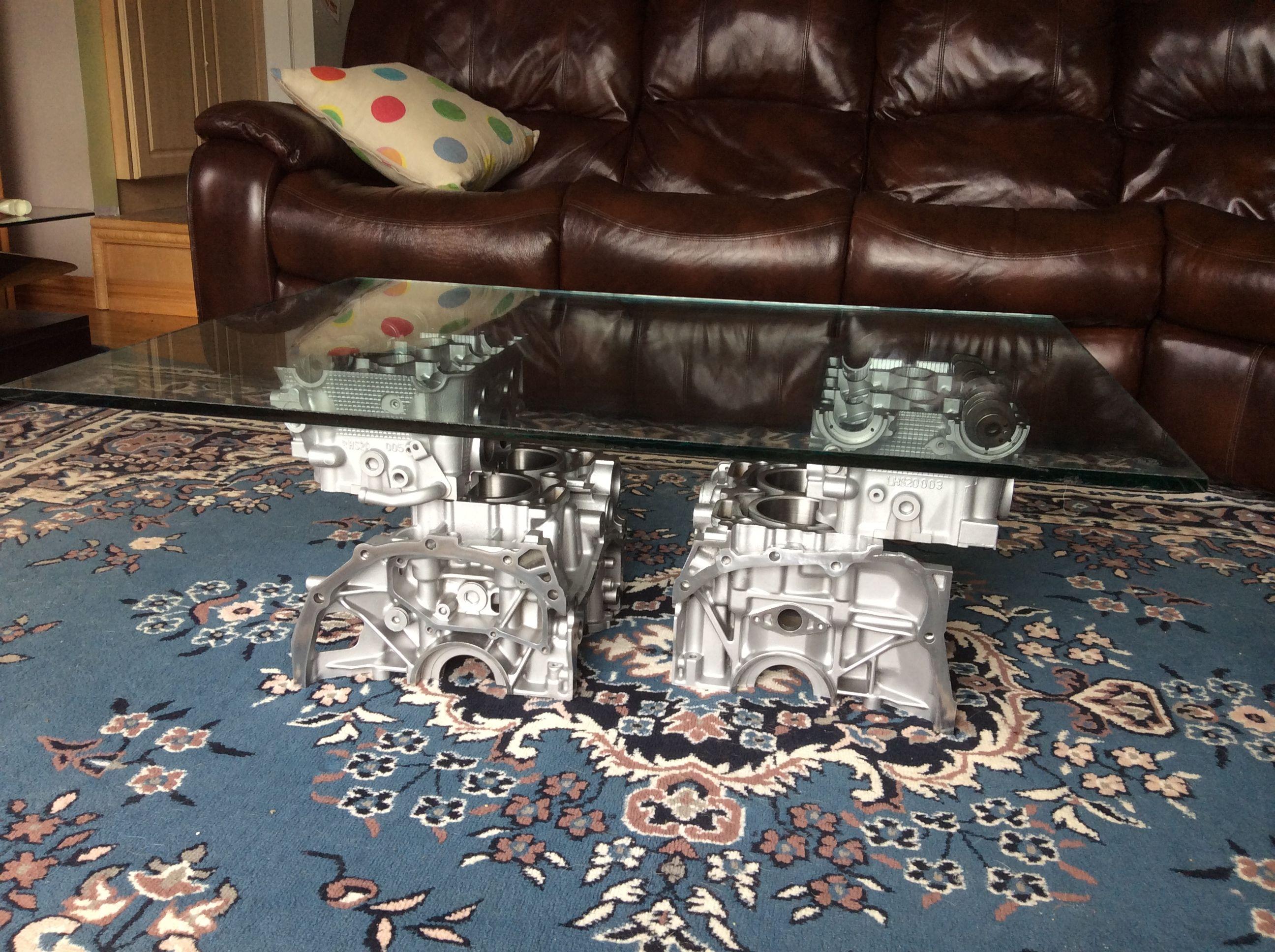 Coffee Table Made From A Reclaim Subaru Impreza Sti Engine Block