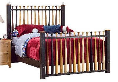Bed Made From Baseball Bats Bedroom Furniture Stores Baseball