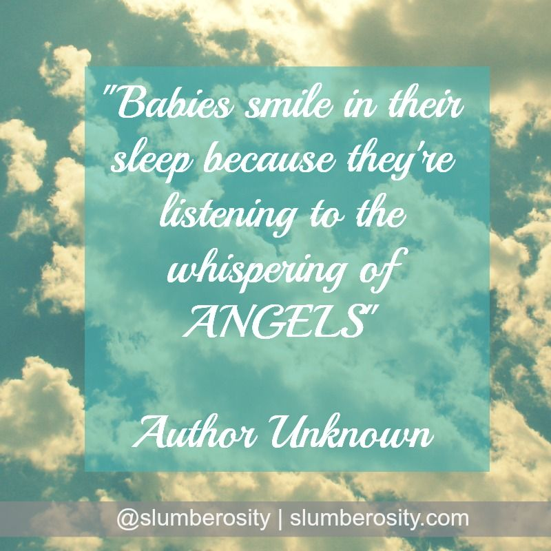 Babies Smile In Their Sleep Baby Sleep Quotes Sleep