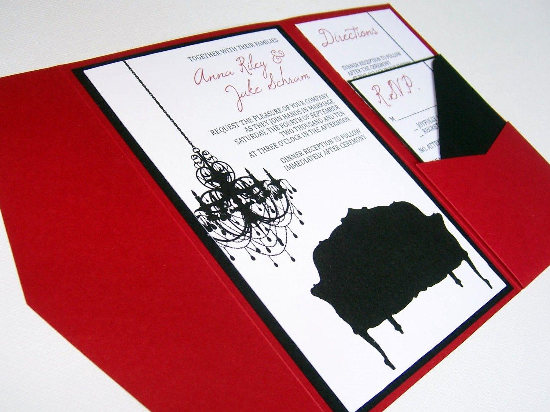 Wedding Invitation, DIY, Pocketfold, Old Hollywood Glam, Printable ...