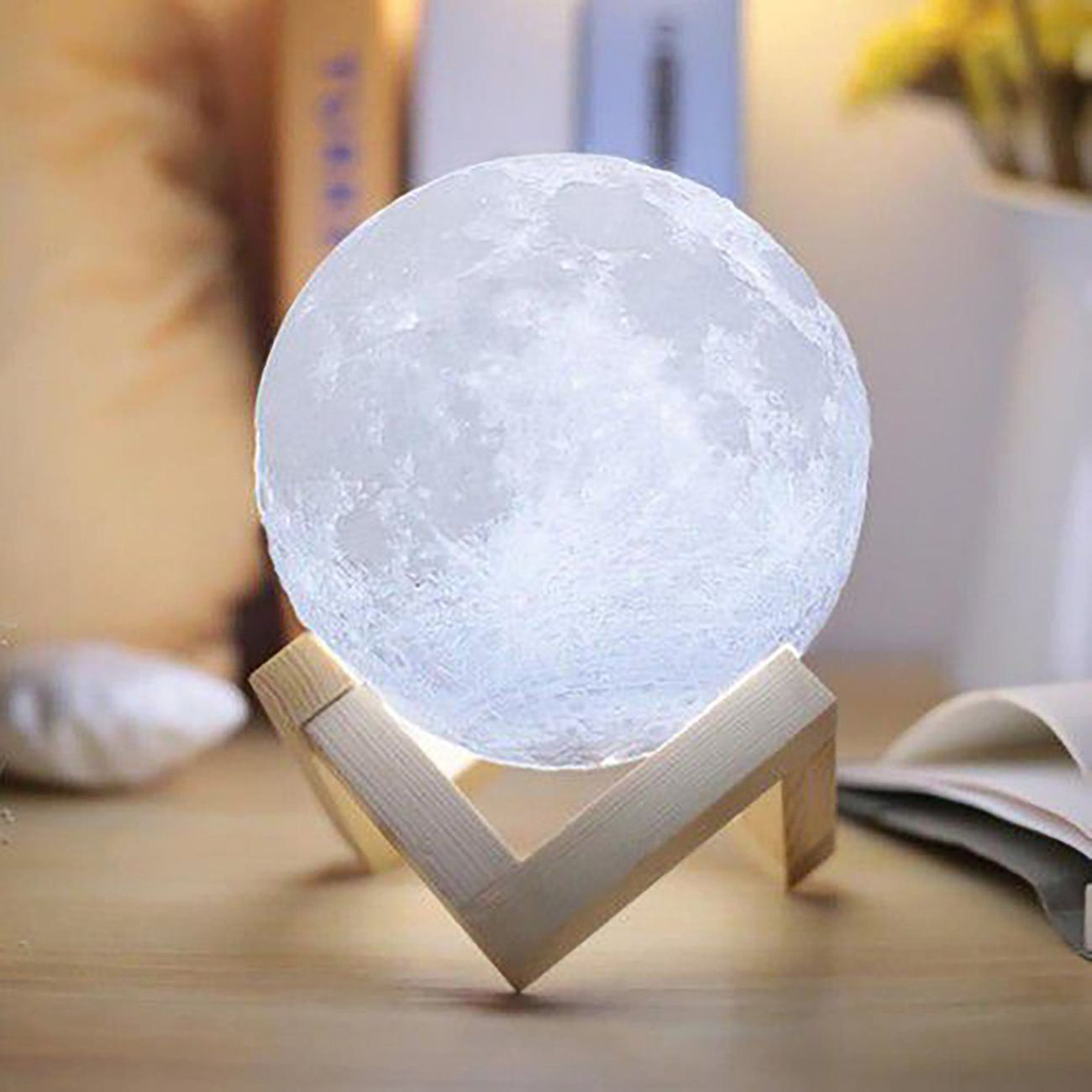 Moon Light Colored 3d Moon Light Moon Light With Stand 4 7 Etsy In 2020 Night Light Lamp Moon Nightlight Nightstand Lamp