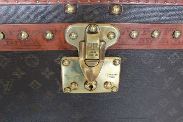 Louis Vuitton Monogram Shoe Trunk In Amazing Condition | From a unique collection of antique and modern trunks and luggage at http://www.1stdibs.com/furniture/more-furniture-collectibles/trunks-luggage/