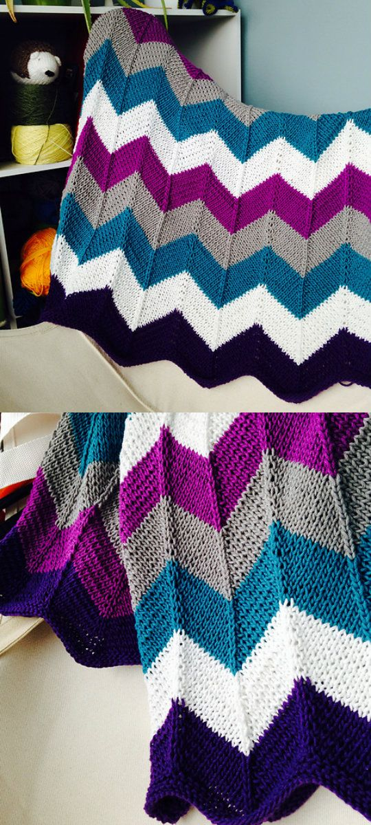 Chevron Blanket Free Crochet Pattern | Crochet blanket ideas ...