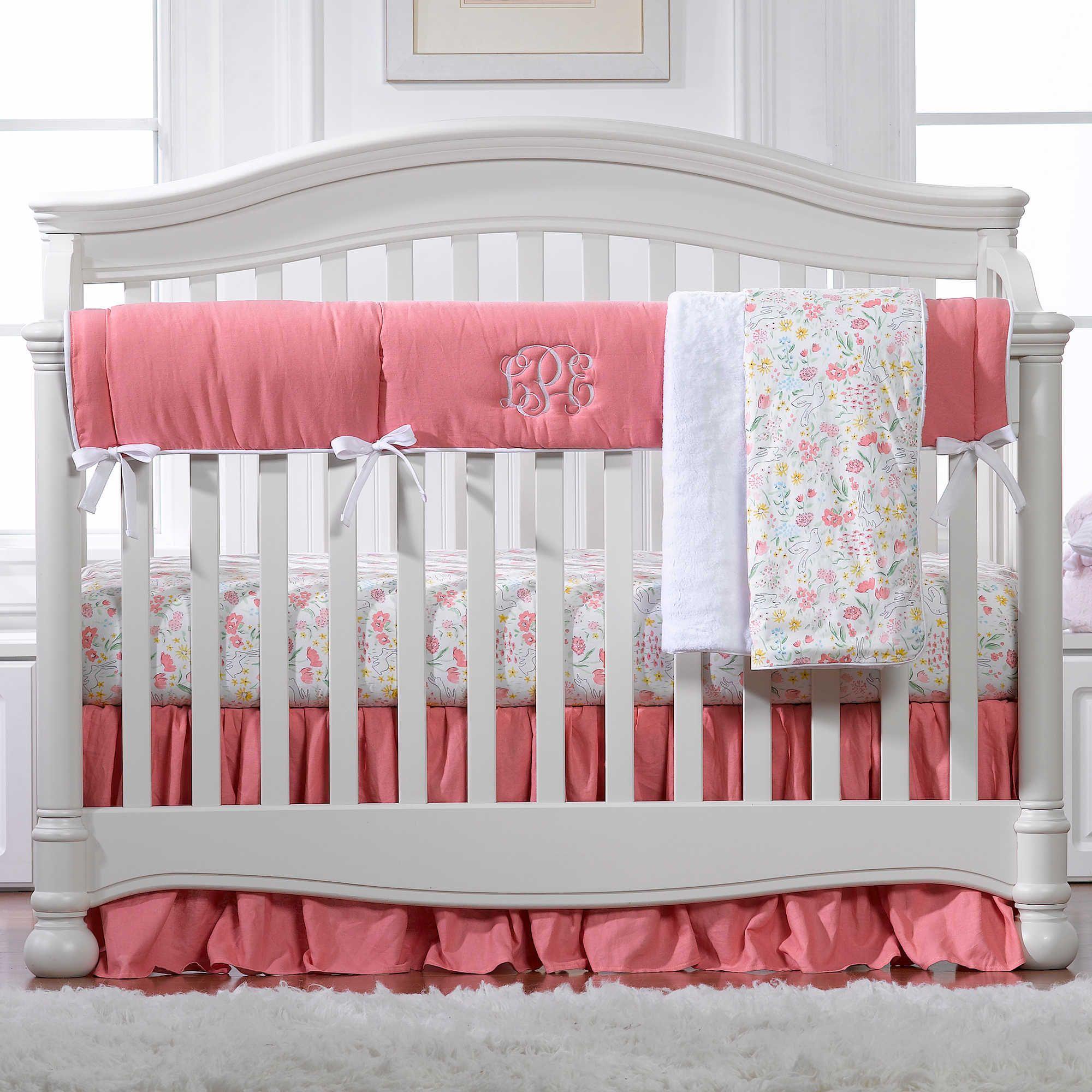 cribs cordelias girl floral products baby pastel lavender crib s bold pink blue hydrangea set cordelia bedding ruffle
