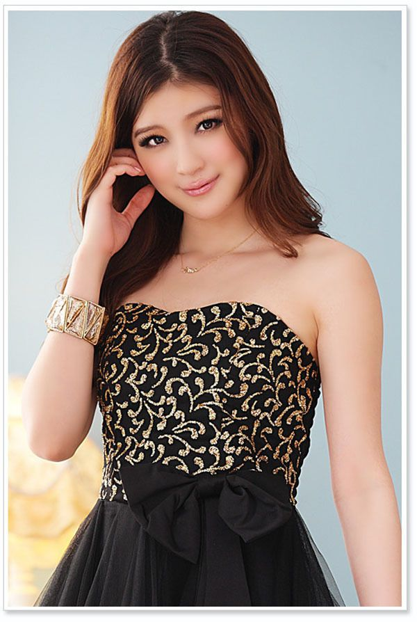 Party Semi Formal Prom Strapless Teens Ladies