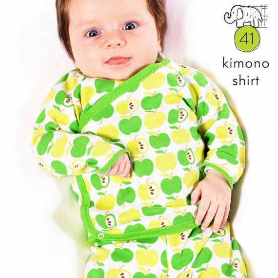 Baby Kimono Shirt Muster Nähen Pdf und von brindilleandtwig auf Etsy ...