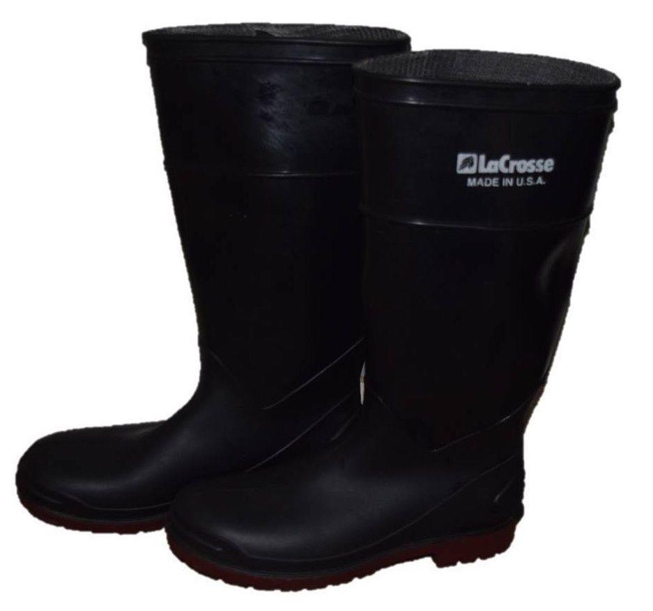 Lacrosse Men's Rubber Boots Shoes Black Made in USA Size 7 #Lacrosse #SnowWinter