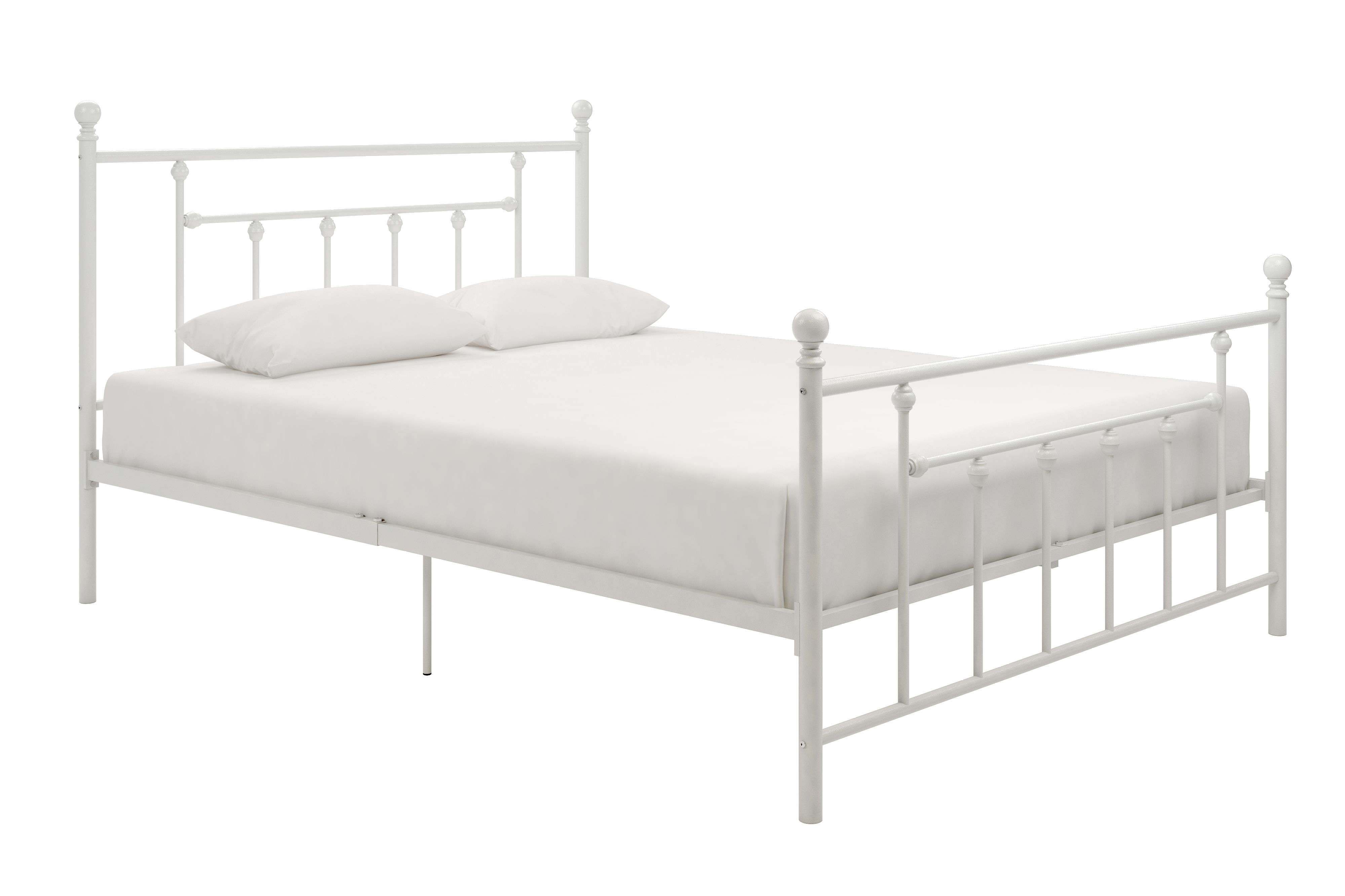Manila Metal Queen Bed White White Metal Bed White Metal Bed Frame Queen Beds White metal full size bed