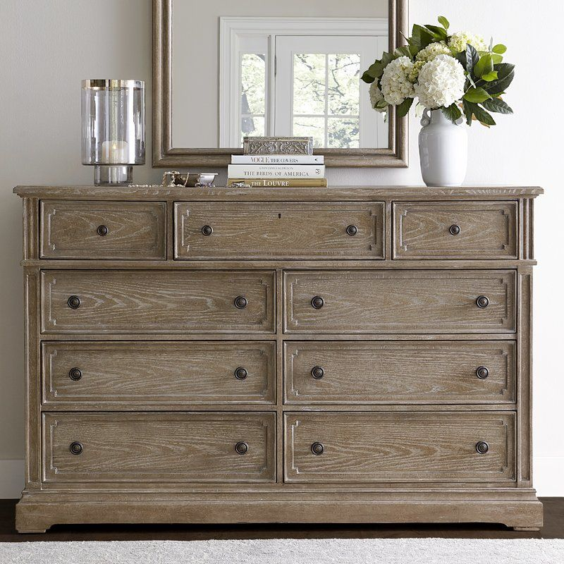 Pannell 8 Drawer Double Dresser Bedroom Chest Of Drawers