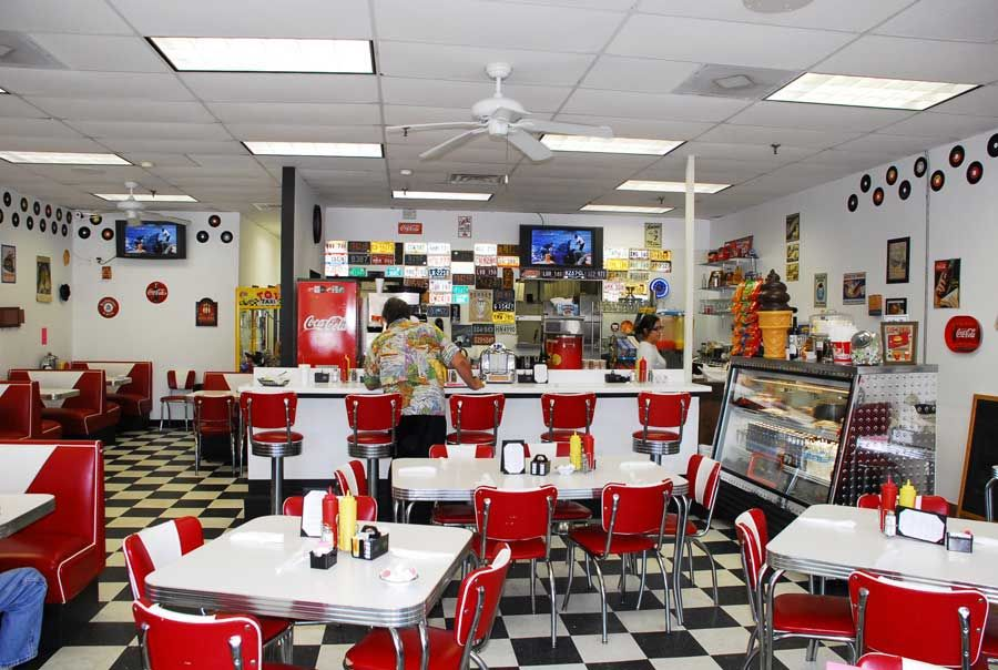 High Quality The Typical 50s Diner Interior, A Cultural And Culinary Phenomenon