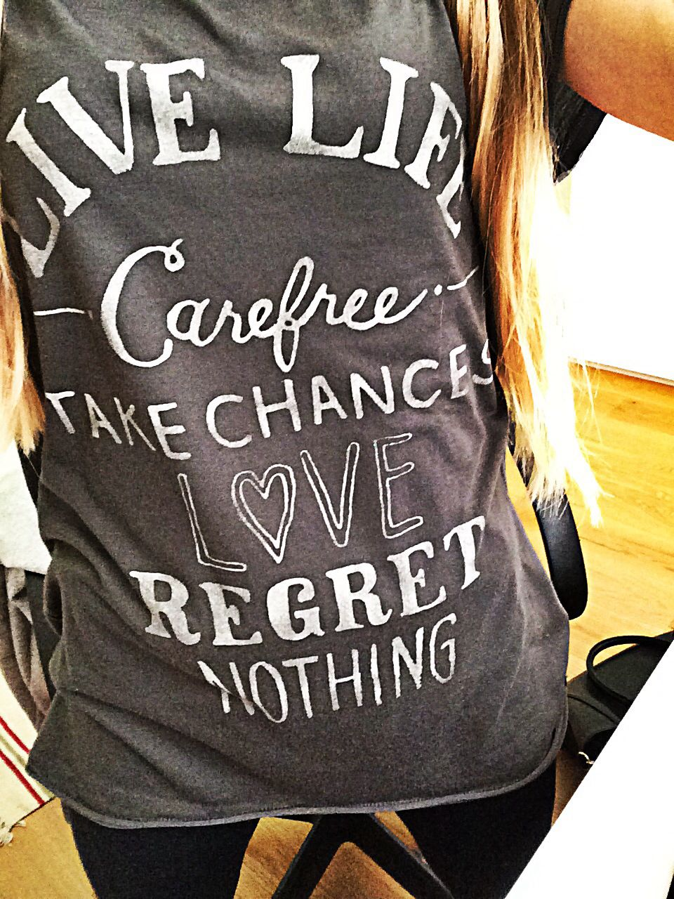 Live Life, Carefree, Take Chances, Love, Regret Nothing ❤️