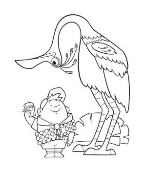 Free Printable Disney Pixar Up Papercraft Russell Coloring Pages Coloring Pages Bird Coloring Pages Disney Coloring Pages