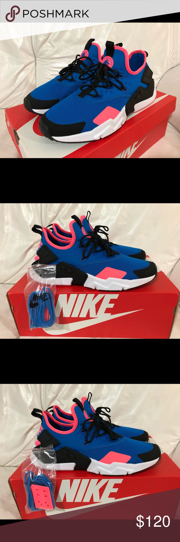 61cdbc000c2e Nike Air Huarache Drift Blue Nebula Size 10.5 New Nike Air Huarache Drift  Blue Nebula   Black   White Men s Size 10.5 New w   Box