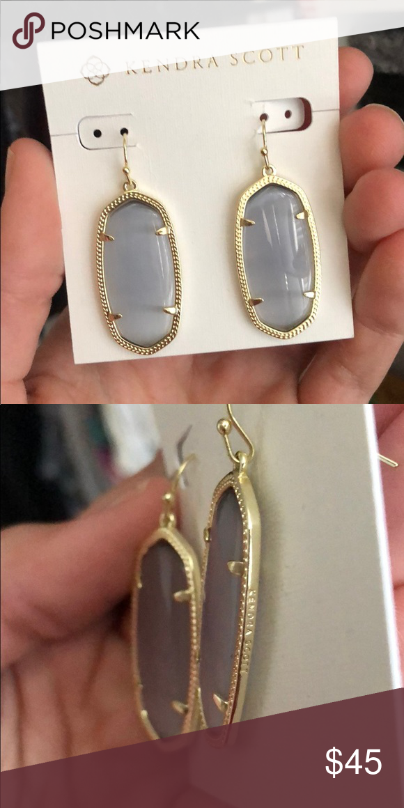 ab9f51061 NEW Kendra Scott Grey Elle Earrings Brand new never worn. Gray with gold.  Coming from a pet friendly home! Kendra Scott Jewelry Earrings
