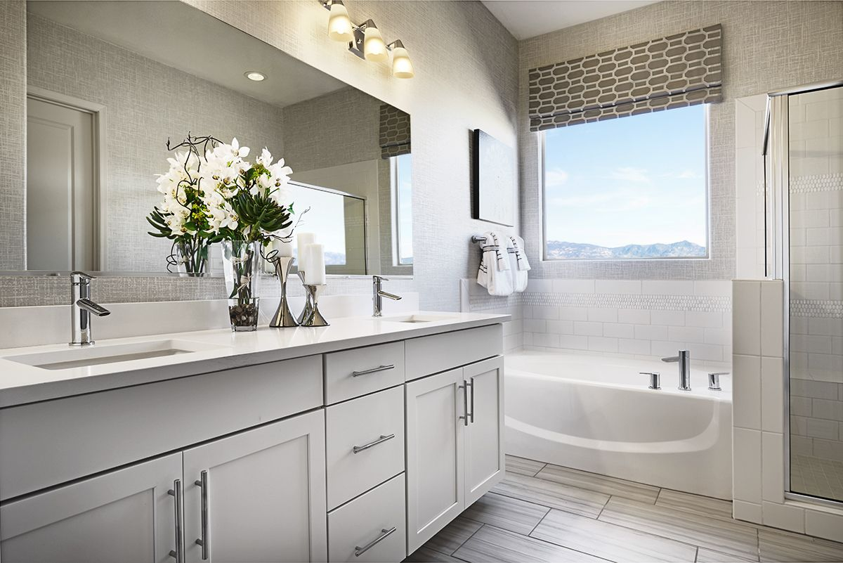 Soak in the sunshine!  Master bathroom  Dominic model home