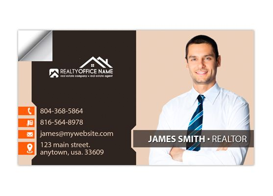 Real Estate Business Card Stickers Template 17 Business Card Stickers Real Estate Business Cards Digital Business Card Realtor Business Cards