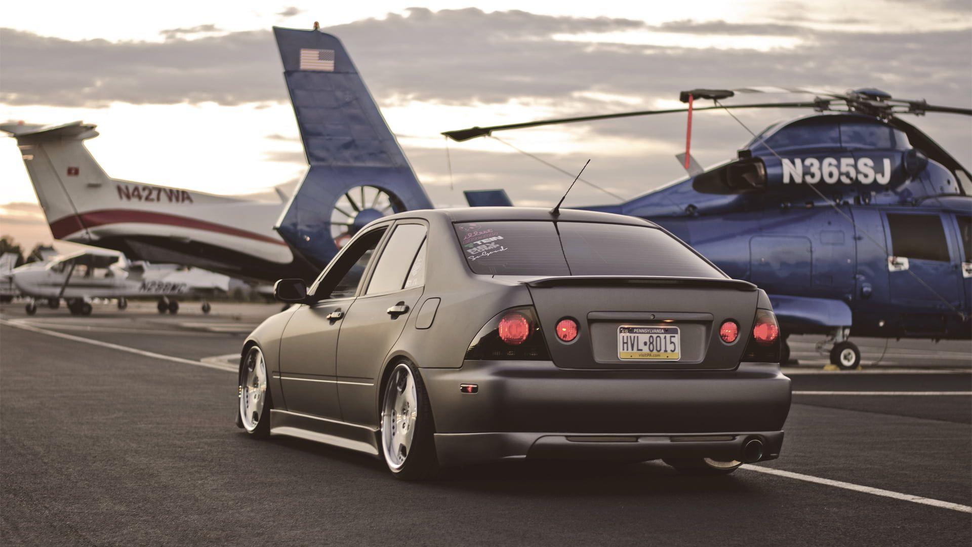 Black Sedan Helicopter Lexus Toyota Lexus Toyota Height Is300 Altezza 1080p Wallpaper Hdwallpaper Desktop In 2021 Lexus Is300 Lexus Sedan Lexus Cars