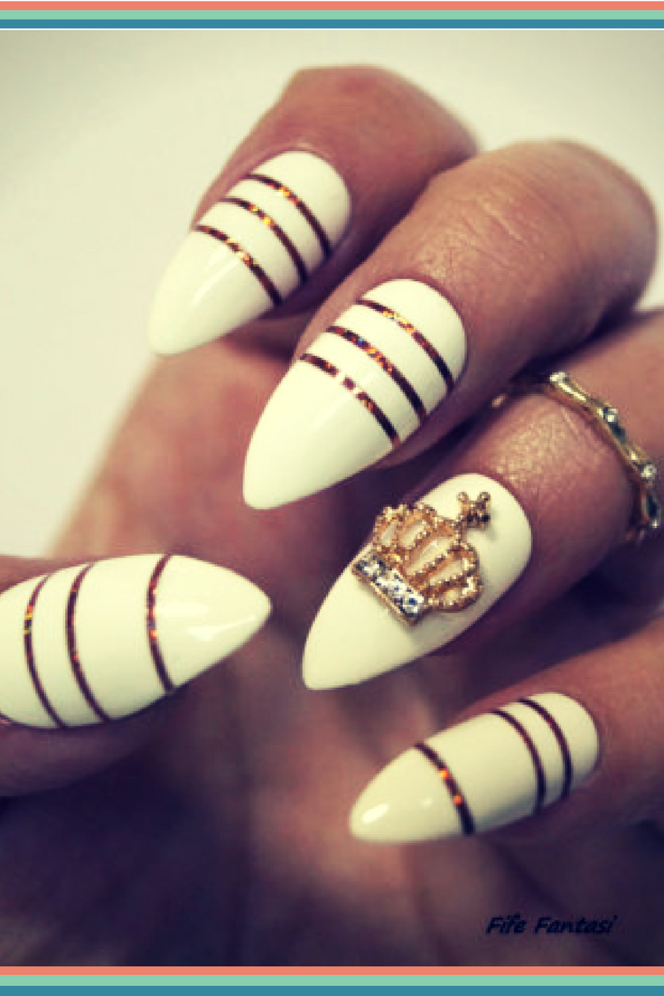 I M Loving This Crown Nail Decal Queen Nails Designs Ring Finger Detail Is Gorgeous Are My Jam These Acry Kids Nail Designs Queen Nails Nail Designs
