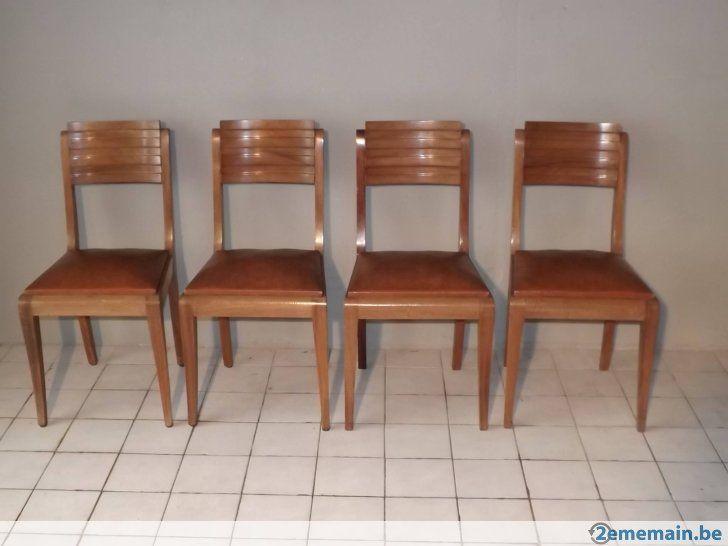 4 chaises acajou gaston poisson art deco 1940 a vendre
