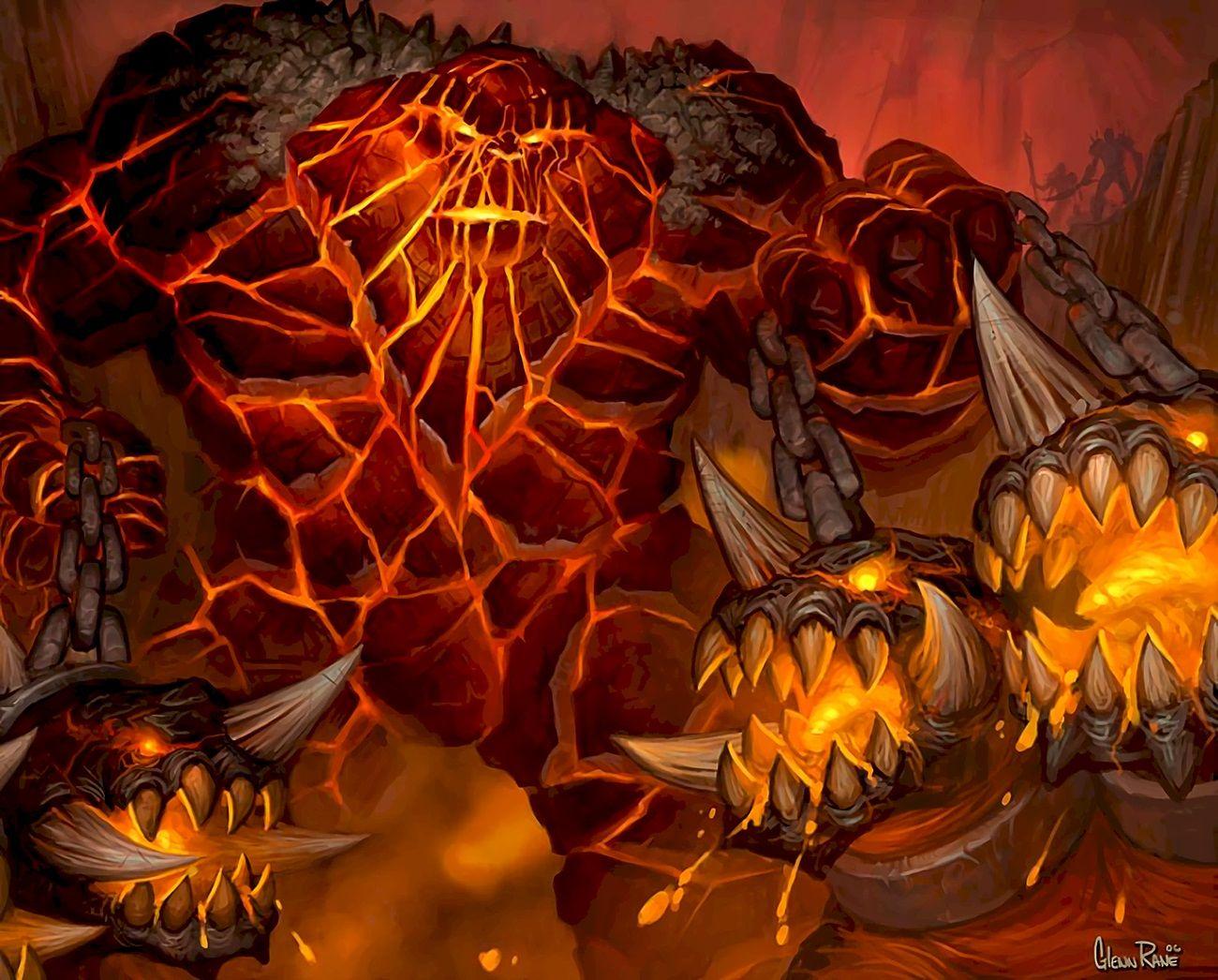 Golemagg art Warcraft art, World of warcraft vanilla
