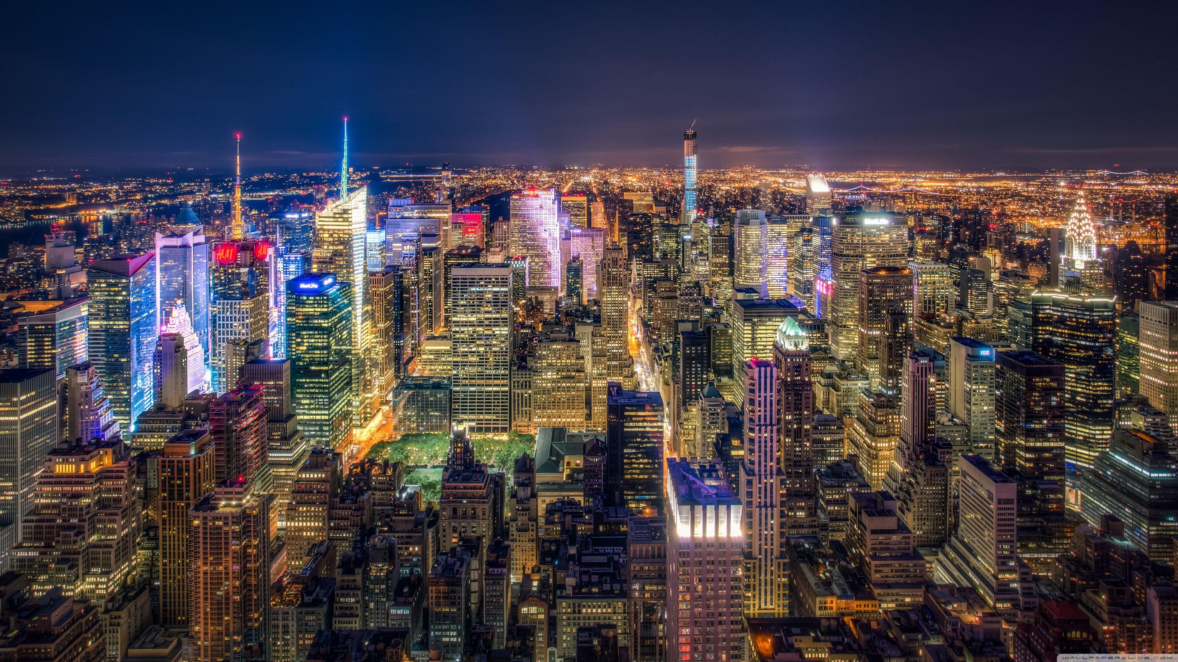 Best Of New York City At Night 4k Wallpaper Wallpaper New York City At Night New York Cityscape Night City