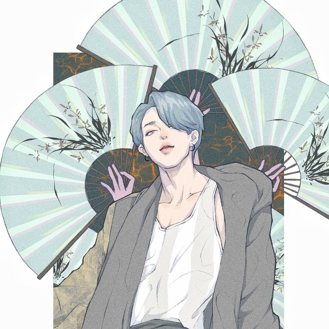Pin oleh Hyuzsy di 방탄소년단 (BTS) (Dengan gambar) Ilustrasi