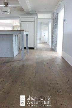 Custom Wide Plank Wood Floor Installation White Oak With