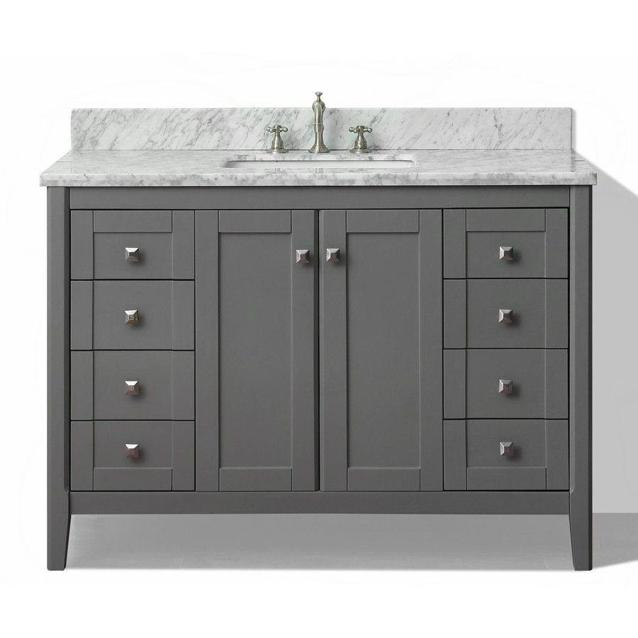 Shop Ancerre Designs Shelton Sapphire Gray Undermount Single Sink Glamorous Shop Bathroom Vanities Review