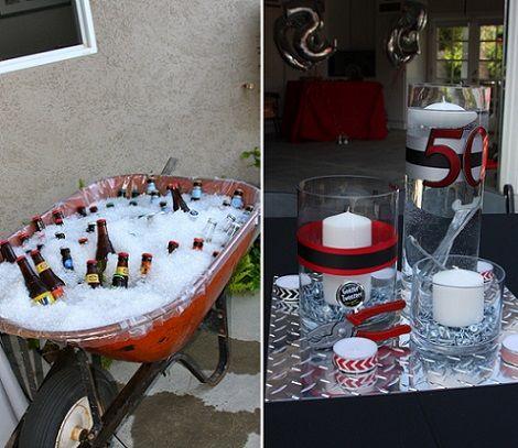 50 cumpleanos hombre bebida fiesta marco 40 pinterest - Decoracion para 50 cumpleanos ...