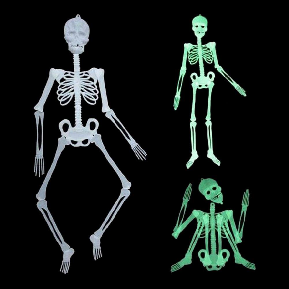 1 pcs dhorreur lumineux mobile crne squelette halloween props lueur mal party favors halloween - Squelette Halloween