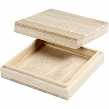 Ask Stl 10x10 Cm Kejsartrad 20 St Square Wooden Box Wooden Boxes Plain Wooden Boxes