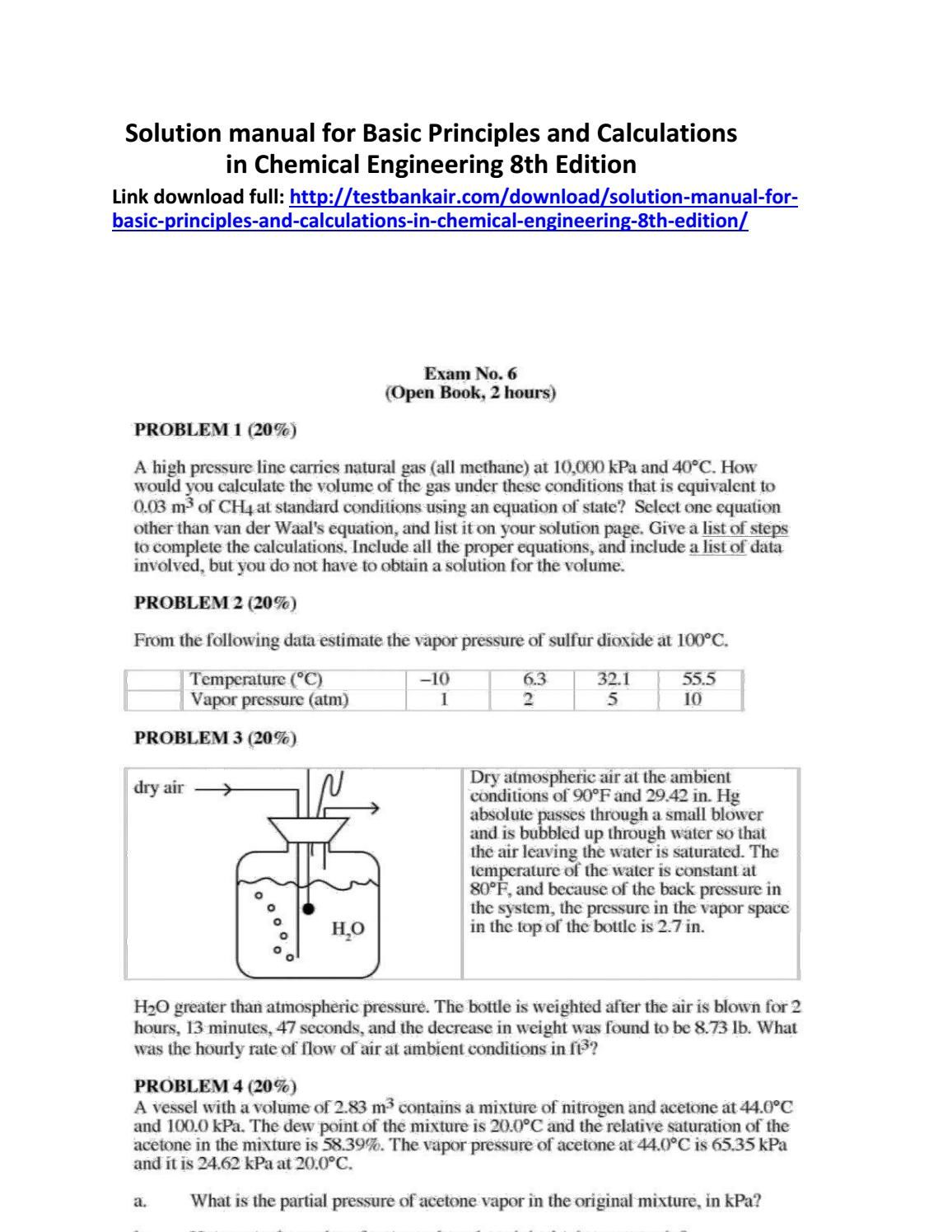 solution manual for basic principles and calculations in chemical rh pinterest com Absolute Solutions Naperville IL Absolute Solutions San Diego