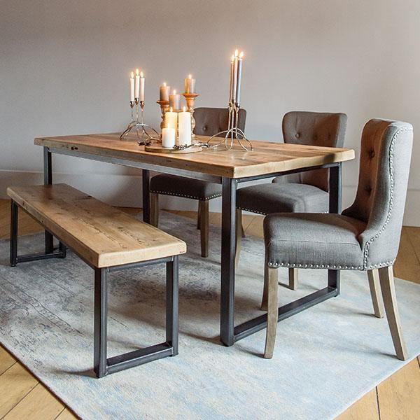 Winston Grand Industrial Oak Extendable Table In 2020 Dinner