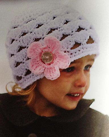 Blooming Crochet Hats - Crochet a colorful hat with mix-and-match blooms! Each of the ten hats is available in six sizes, ranging from infant to adult. From adorable scalloped beanies to the fashionable Comfy Cloche, there is a hat for everyone to make and enjoy. Available at MaggiesCrochet.com