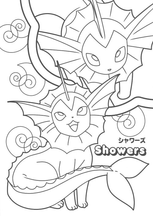 pikachu and eevee friends coloring book - Friends Anime Coloring Pages