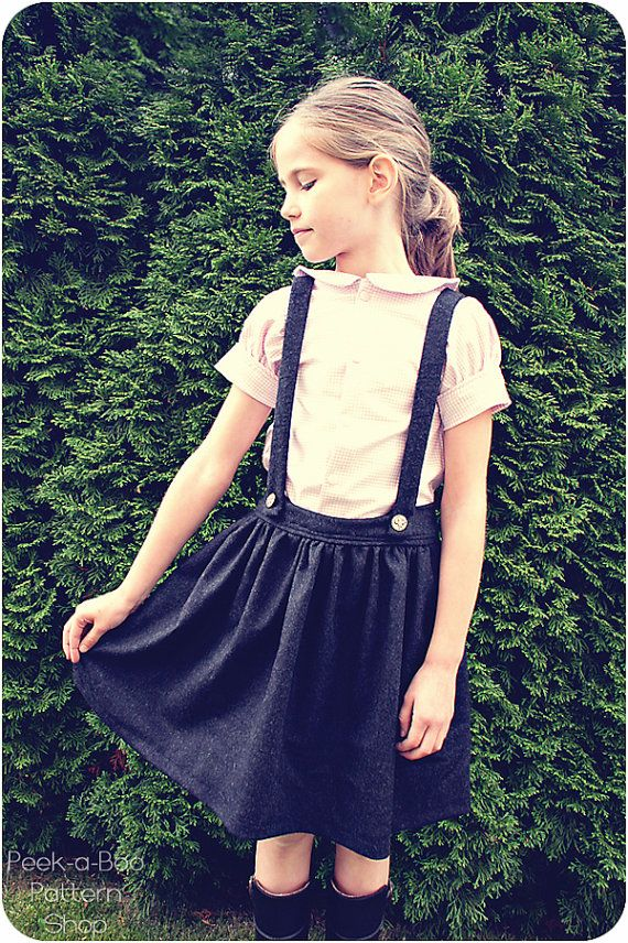 Molly Schoolgirl Skirt: Girls Skirt with by PeekabooPatternShop ...