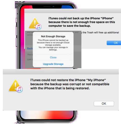 iphonebackupspacenotenough1 Data recovery tools