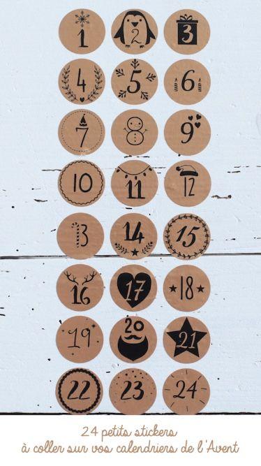 Les étiquettes de l'Avent #calendrierdelaventfaitmaison