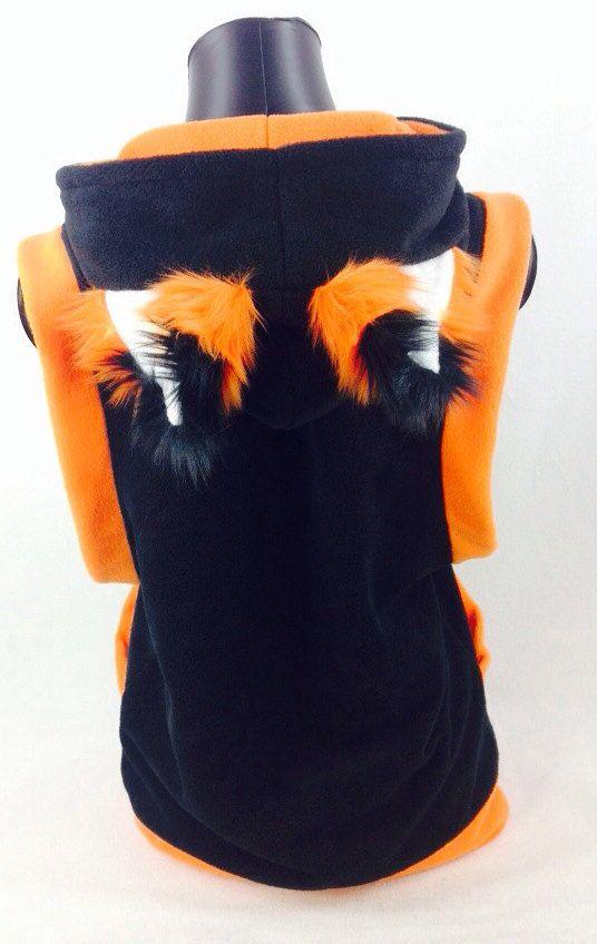 c5c85c78908b3 Pawstar FOX Yip Sleeveless HOODIE - Furry Ears Jacket Coat Cosplay ...