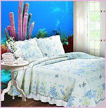 OceN Themed Bedding | Underwater Ocean Sea Life Theme Bedroom Decorating  Ideas   Dolphin .