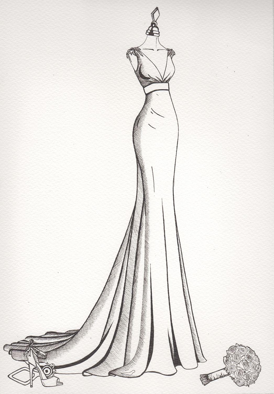 Wedding dress sketch sketch book ideas pinterest wedding