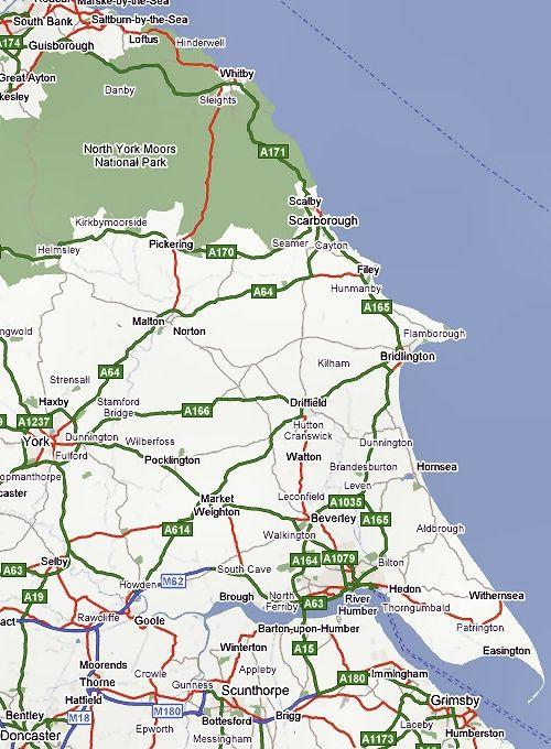 Map Of Yorkshire Coast The Yorkshire Coast | Yorkshire Coast | Yorkshire, England  Map Of Yorkshire Coast