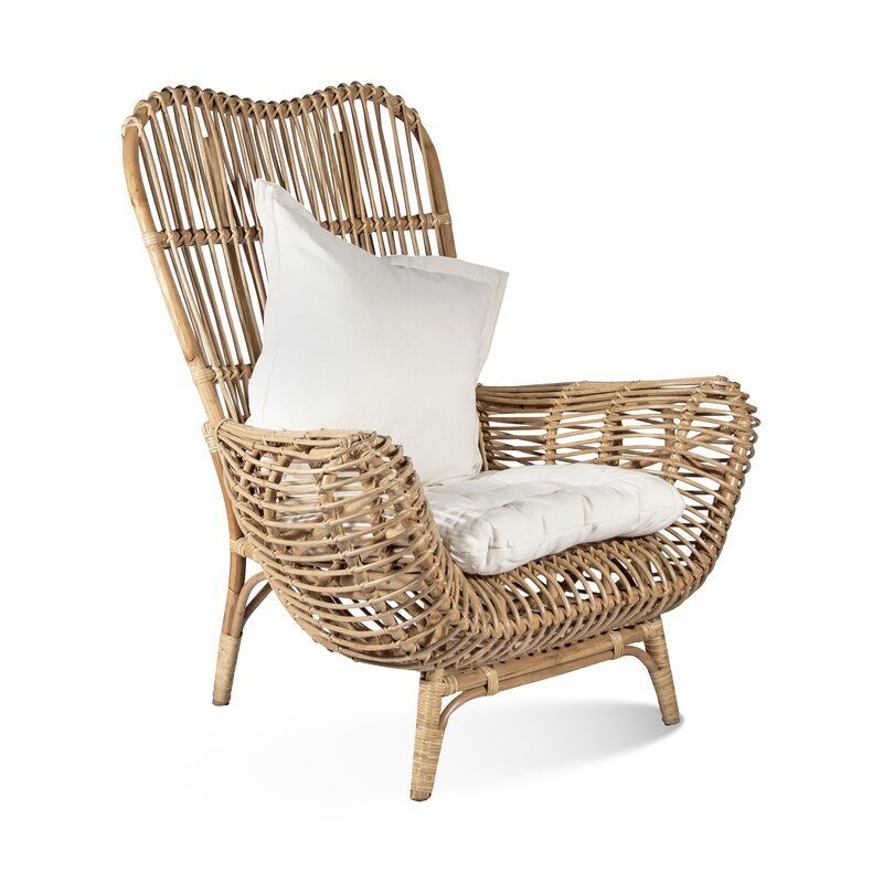 Their Round Back Rattan Chair Brings A Comfortable Minimalist Design Aesthetic To Indoor Spaces And Covere In 2020 Patio Chairs Rattan Chair Living Room Wicker Chairs