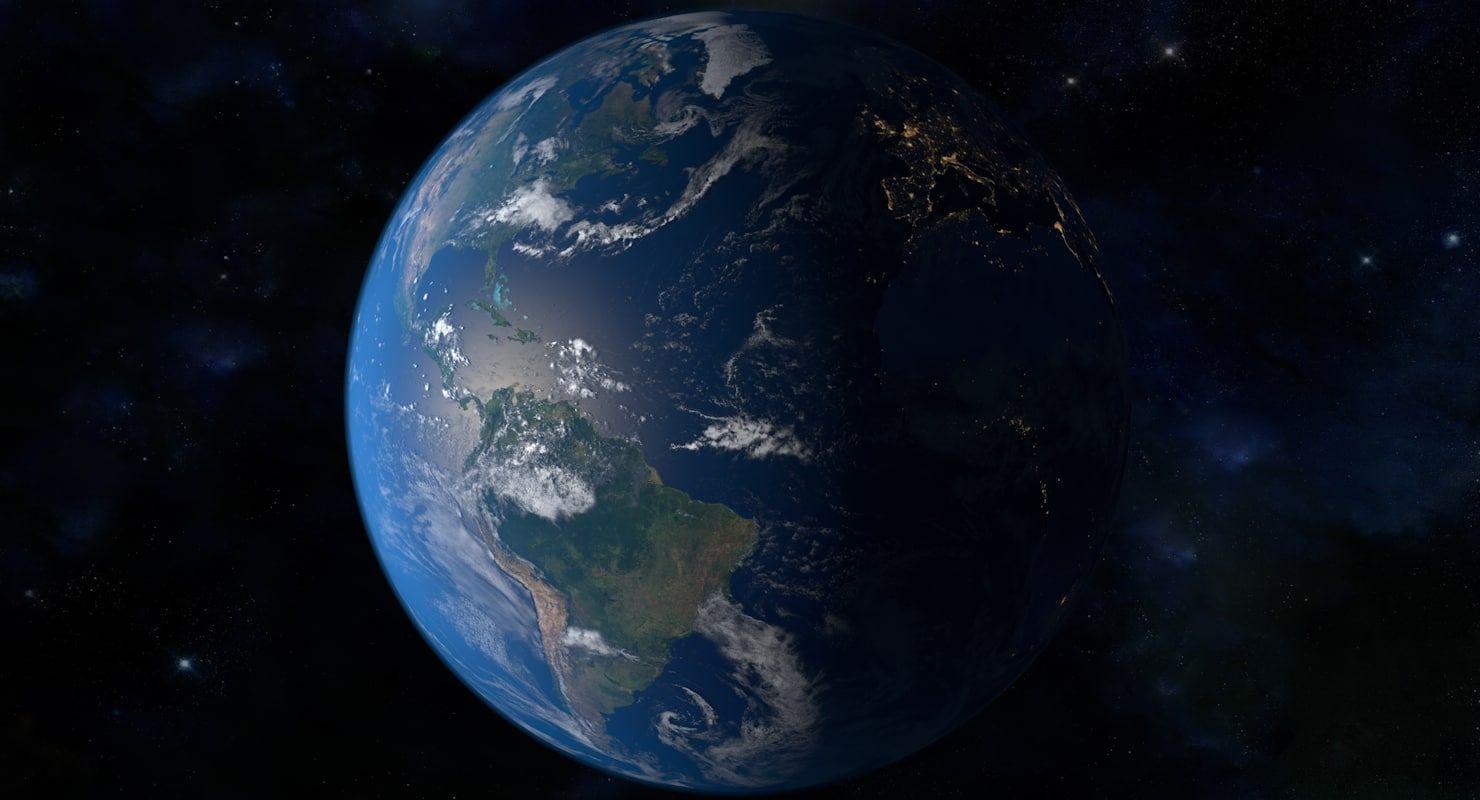 32k Planet Earth 3d Model Earth 3d Earth 3d Landscape