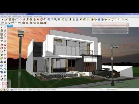 Google sketchup tutorial 16 vray exterior night scene - Vray exterior rendering settings pdf ...