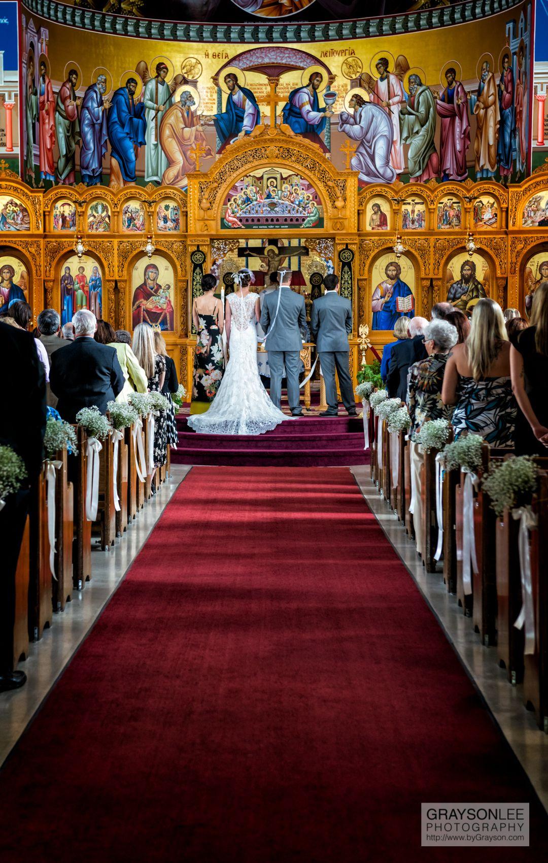A traditional wedding at St  Panteleimon Greek Orthodox