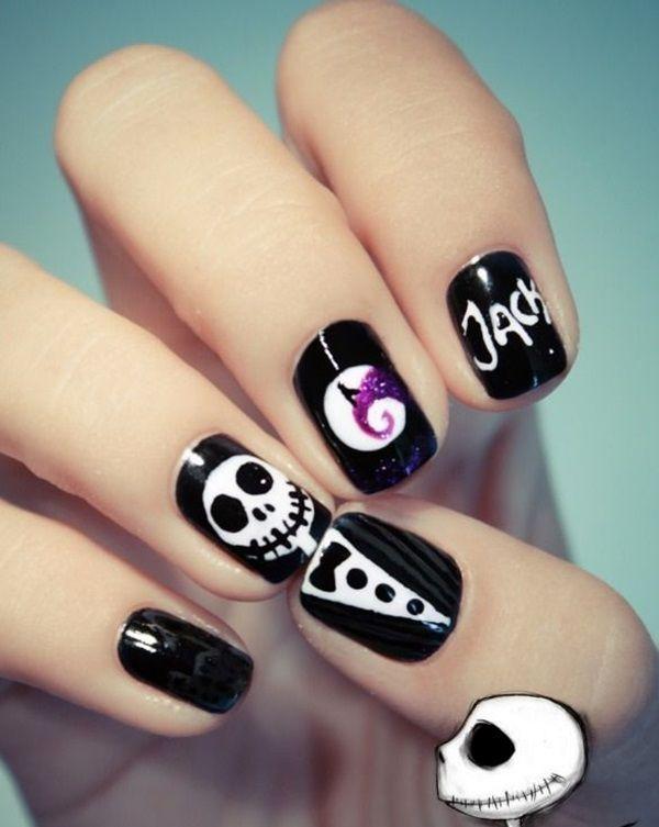 Latest 45 Easy Nail Art Designs For Short Nails 2016 Halloween Nail Designs Skull Nail Art Halloween Nail Art