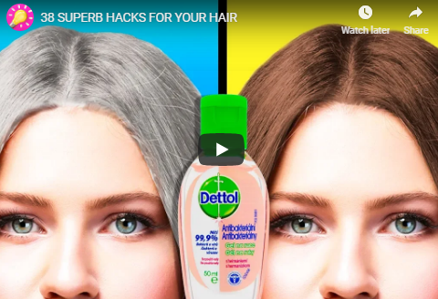 5 minute crafts life hacks for hair